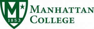 Manhattan College logo stacked horiztonal_green