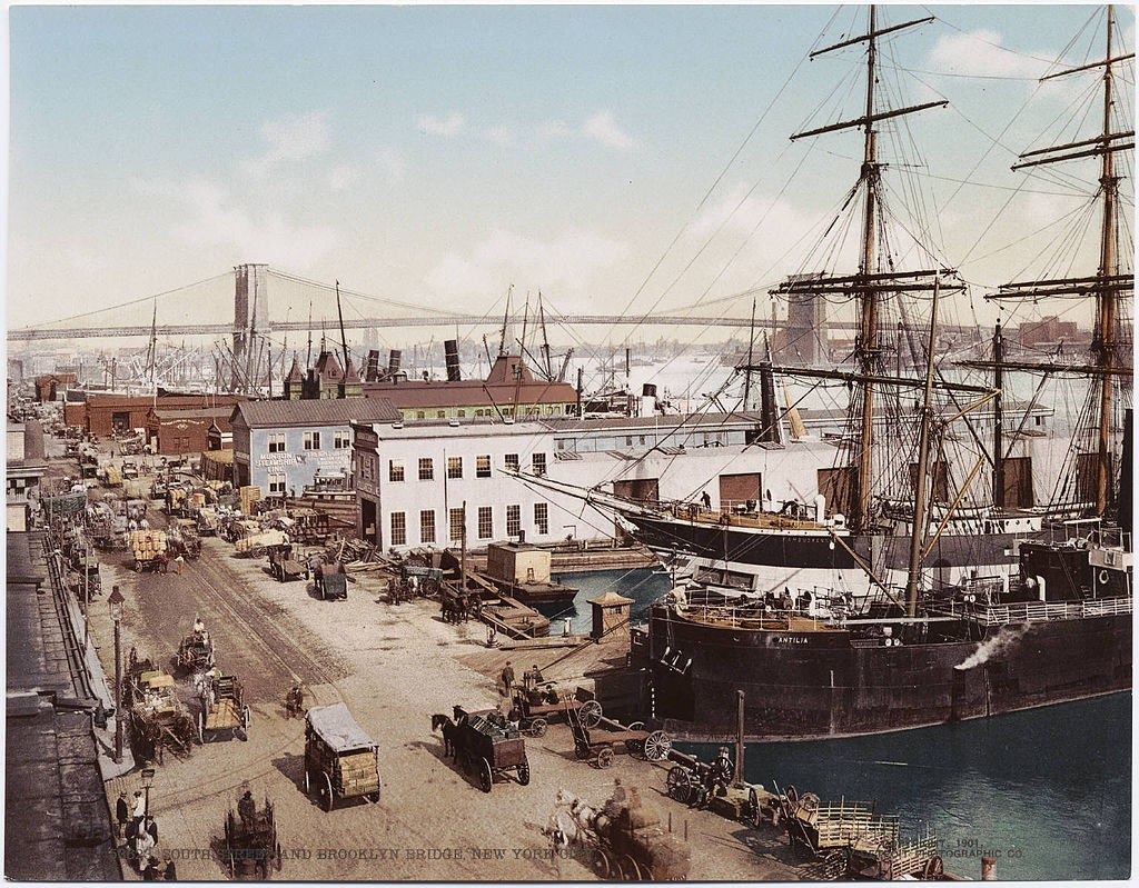 Historic South Street Seaport in Lower Manhattan