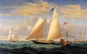 The_Yacht_'America'_Winning_the_International_Race_Fitz_Hugh_Lane_1851